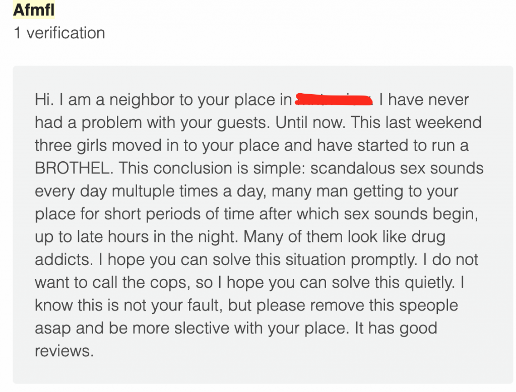 Airbnb prostitution ring